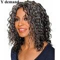BOB wavy gray Synthetic Hair Wigs Pixie Cut Silver Grey Colour For Beauty Women