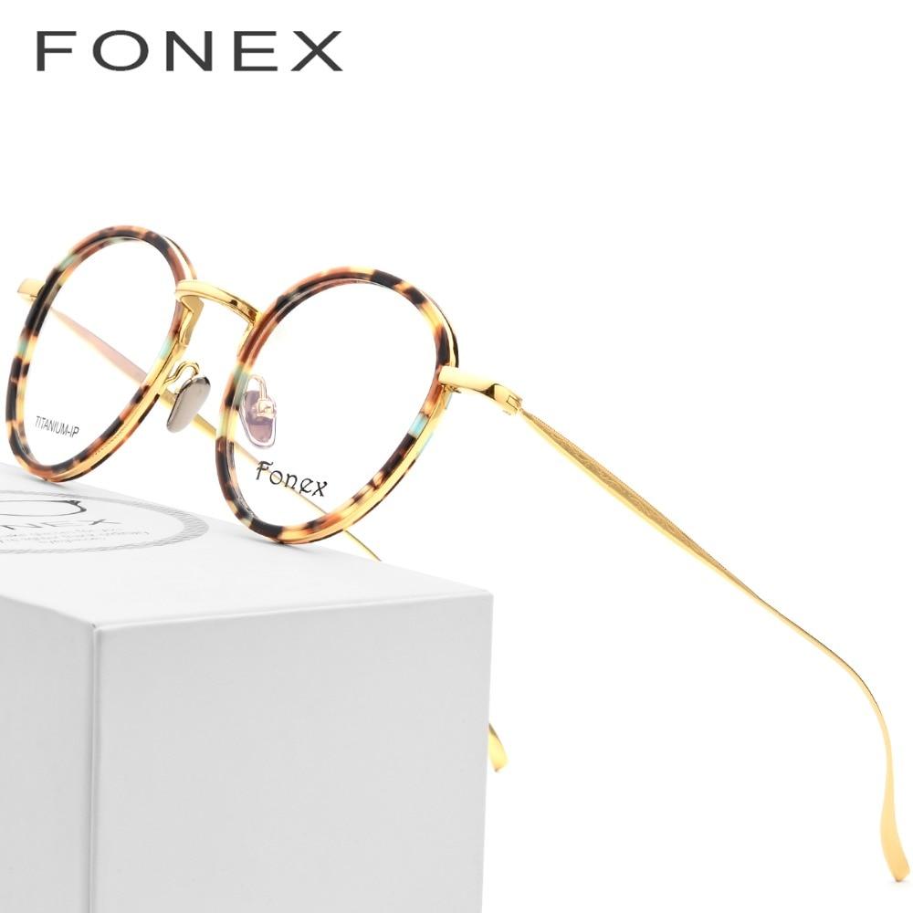 181117ce9c Gafas de titanio puro montura hombres 2018 luz Vintage redondo ultraligero  prescripción gafas mujeres miopía monturas ópticas gafas en Gafas de Marcos  de ...