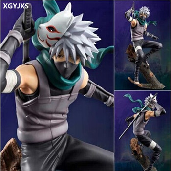 21CM Naruto Hatake Kakashi PVC Action Figure The Dark Kakashi Toy Naruto Figure Toys Furnishing Articles Gifts X231