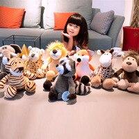 Лесная Серия животных пушистый слон лиса Жираф тигр лев дети в комплекте куклы