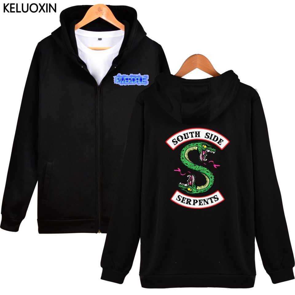 KELUOXIN Riverdale Zipper Hoodies Women Men Autumn Winter American TV Sweatshirt Ladies Riverdale Fans South Side Sudadera Mujer