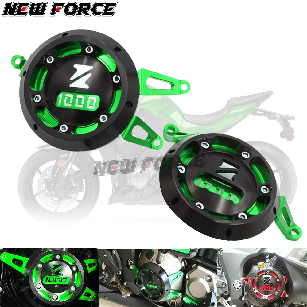 CNC Aluminum Motorcycle Engine Guard Side Stator Case Guard Protector Green for Kawasaki <font><b>Z1000</b></font> Z1000SX 2011 - 2017 2018 <font><b>2019</b></font> image
