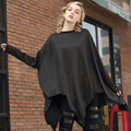 [XITAO] 2016 Europe Street tide female autumn oversize long sleeve loose irregular long solid color batwing sleeve T-shirt ZY002