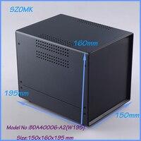 (1 unids) 150x160x195mm caja de proyecto electrónico caja caja electrónica recinto de extrusión de acero de hierro proyecto de vivienda caso