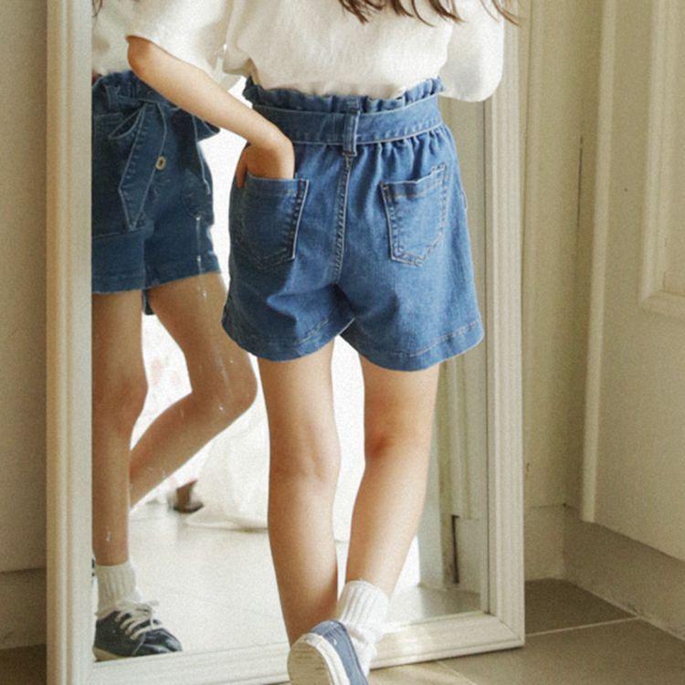 4e7b11b0a576b Adolescent filles d'été vêtements jeans shorts filles 6 8 10 12 14 16 ans  avec ceinture bleu denim enfant enfants shorts filles vêtements dans Shorts  de ...