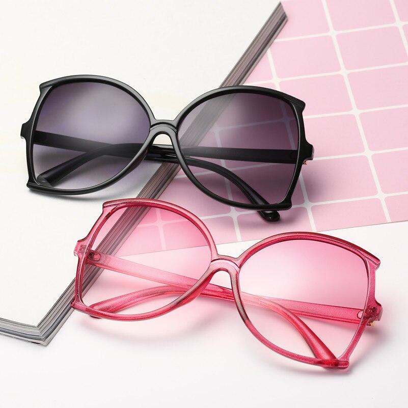 9c261a9d354e3 Women New Fashion Unisex Oversized Sunglasses Retro Glasses Big Goggles  Vintage Lunette De Soleil Femme Transparent Eye Lenses
