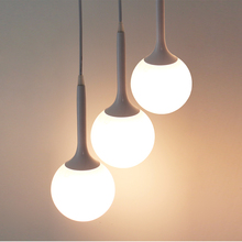 Бесплатная доставка Простой 15 СМ-30 СМ творческая гостиная спальня лампы освещения стекла сферической ресторан с одной головкой подвесные светильники