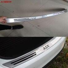 Автомобильный-Стайлинг из нержавеющей стали после защиты заднего бампера Подоконник подходит для Mitsubishi ASX 2010- автомобильные аксессуары авто