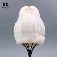 [Rancyword] المرأة الشتاء قبعة محبوك بينيس skullies الصوف الإناث السببية قناع تزلج أثخن دافئ أضاليا القبعات للنساء RC1243