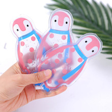 1 pcs cute penguin shaped thicken reusable gel ice bag cool pack high quality summer cold cooler bags health care pain relief