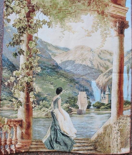 okrasna slikarska tapiserija stenske slike krajinska slika jedro moda žakard, 70 * 85CM