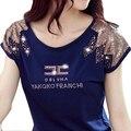 Майка женщин 2016 шею футболка camisetas mujer Y топы каваи ти femme летом стиль плюс размер корейский 3D хлопок футболки