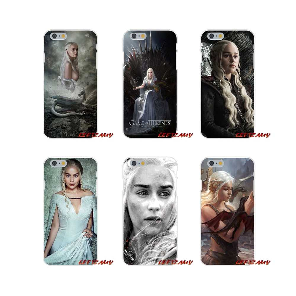 Accessories Phone Cases Covers Game Of Thrones Daenerys Targaryen For iPhone X 4 4S 5 5S 5C SE 6 6S 7 8 Plus