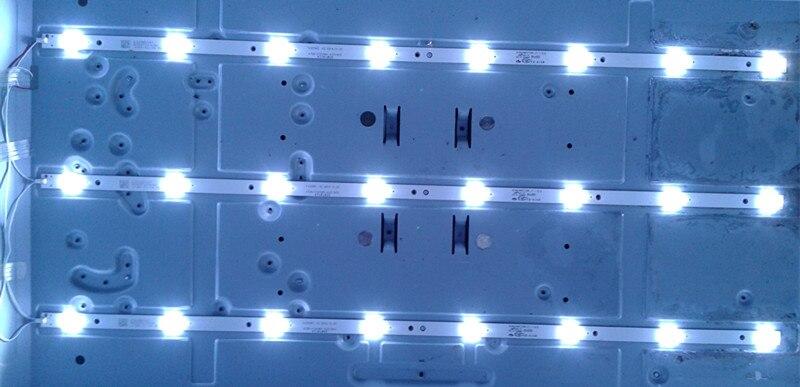 3pcs X 32 Inch LED TV Backlight Strips 4708-K320WD-A2213K01 For 32'' TCL LE32D59 & For 32PFL3045 8-LEDs 618mm