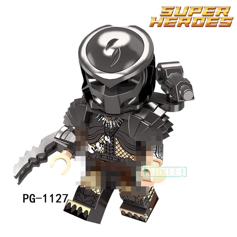 1pc Educational Building font b Blocks b font Marvel Super Heroes The Movie Series Predator Kids
