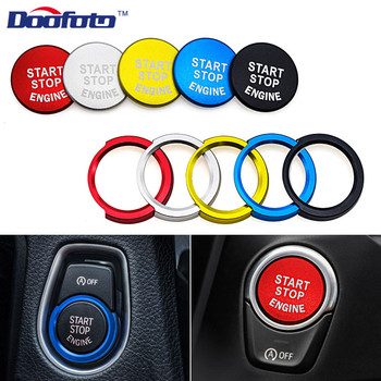 Doofoto Car Styling For Bmw E46 E60 E39 F30 F20 118i F22 F23 F45 X1 F48 E84 E90 E91 E93 X6 Start Button Stop Stickers Accessorie image