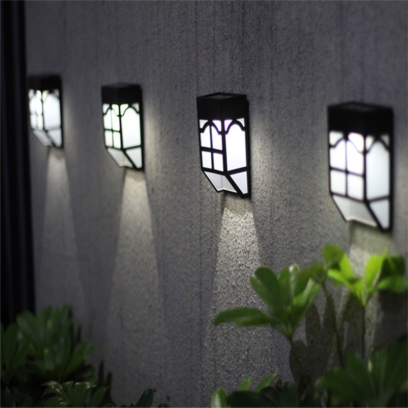 Solar Lantern Outdoor Fence Lantern Garden Waterproofing Residential Landscape Garden Lamp Street Lamp Stair Wall Lamp LED Light