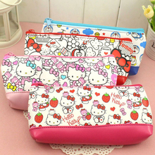 1pcs Women Portable Cute hello kitty Multifunction Beauty ZipperTravel Cosmetic Bag Makeup Case Toiletry Pouch Pen Purse bag 044