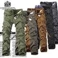 Camuflagem do exército de Carga Calças Táticas Militares 42 40 38-28 PLUS SIZE GRANDE Marca Multi-bolso Macacão Calças