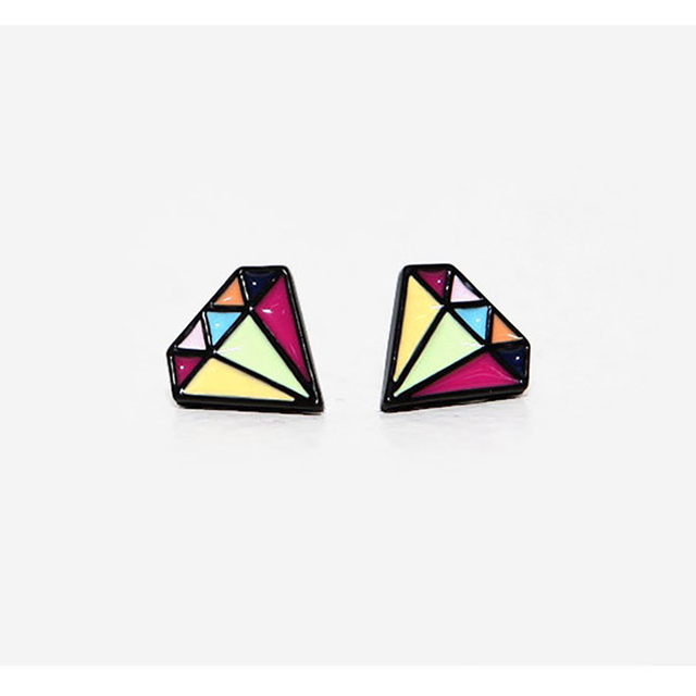amazon post dp stud sterling silver colour multi earrings flower crystal small tiny colourful girl com