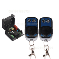 1CH AC220V RF Wireless Mini Switch Relay Receiver 2CH Remote Controllers Lighting LED Lamp ON OFF