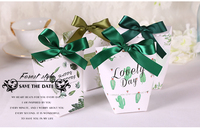 Romantic Heart Candy Box For Wedding Decoration Vintage Kraft Wedding Favors And Gifts Box With Silk
