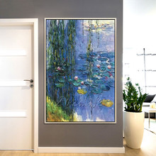 Claude Monet oil painting canvas painting lotus painting Wall art wall Pictures for Living room home decor caudros decoracion13 claude monet oil painting on canvas landscape painting lotus painting wall pictures for living room hight quality hand painted
