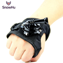 Glove Wrist Band 360 Degree Swivel Rotation Hand Strap Belt Tripod Mount For GoPro Hero 5/4/3+ For Go Pro SJCAM SJ4000 GP127L цены онлайн