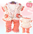 clearance 0-2Y girls clothing set fruit baby girl clothing children clothing 3pcs kids clothes baby girl clothes
