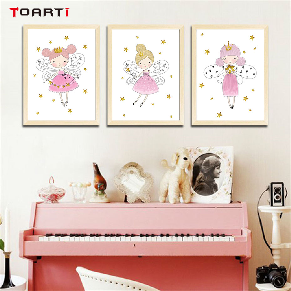 Room, Kids, Pink, Canvas, Print, Picture