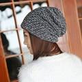 Women Spring Winter Hats 2016 Inner Warm Beanies Women Knitted Cap Crochet Knitted Hats Cap Female Chapeu Feminino #1129
