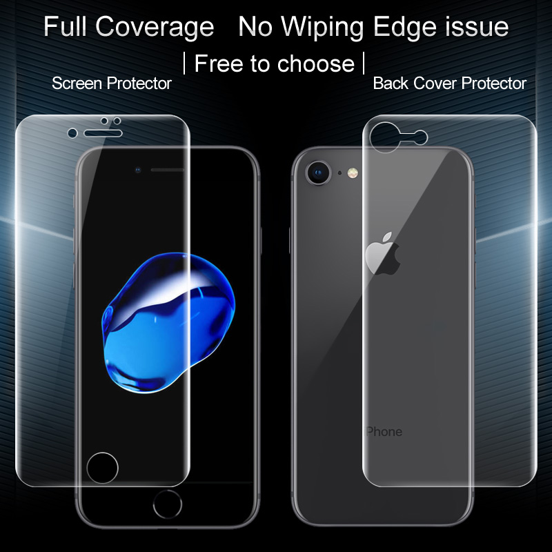 buy popular 98f6d 13adb US $7.68 |For iPhone 7 8 Back Cover Protector iMAK Hydrogel Coverage Soft  Protective Film For iPhone 7 8 lus Screen Protector-in Phone Screen ...