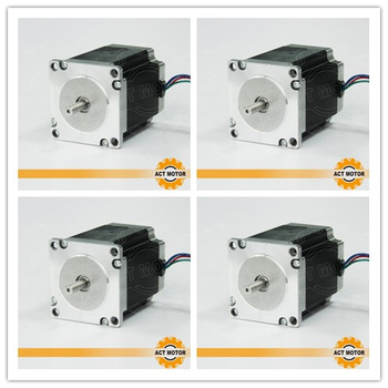 Shipping from China!4PCS Nema23 Stepper Motor 23HS8430 4-Lead 270oz-in 76mm 3.0A Bipolar CNC Router Foam Grind Laser Engraving image