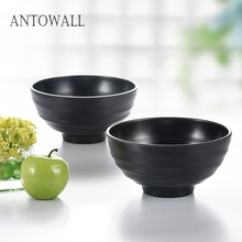 ANTOWALL High Quality Melamine Tableware Soup Rice Noodle Ramen Bowl for Restaurant and Canteen supplies 5 6 8 inch japanese cherry blossom ceramic ramen bowl large instant noodle rice soup salad bowl container porcelain tableware