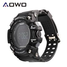 Aowo X6 Smart Watch Men 5ATM Waterproof IP68 XWatch Sports watches FSTN LCD Call SMS Notification 610mAh Big battery Passometer