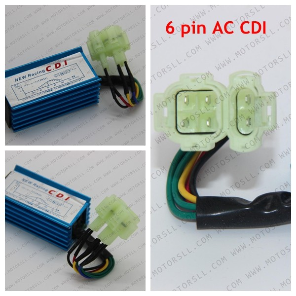 6 Pin Two Squre Plug Ac Cdi Ignition Box Cg 125cc 150cc 200cc 250cc Pit Dirt Bike Atv Quad Parts Atv Parts & Accessories