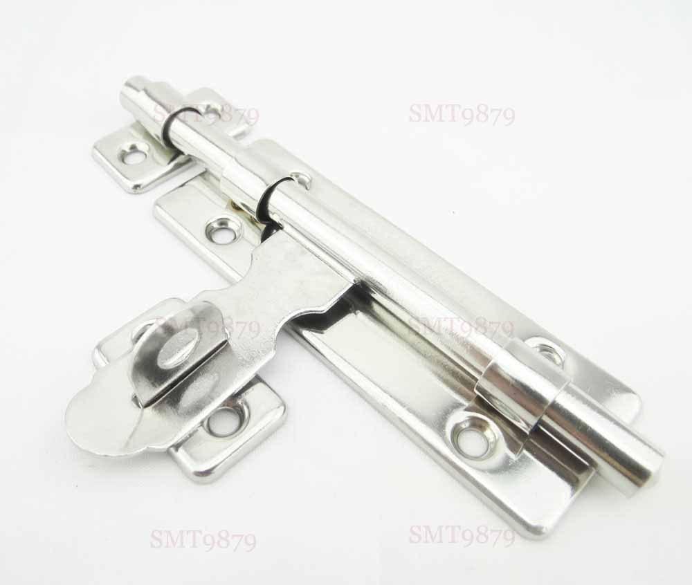 Garage door slide lock - 132mm Gate Bathroom Toilet Sliding Door Slide Lock Latch Bolt Steel Home Security Locking In