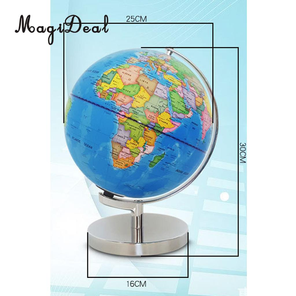 Map Of The World Globe View.Us 36 32 18 Off Magideal 23cm Day View World Globe And Night View Illuminated Constellation Map Globe For Home Table Desk Decoration Ornaments In