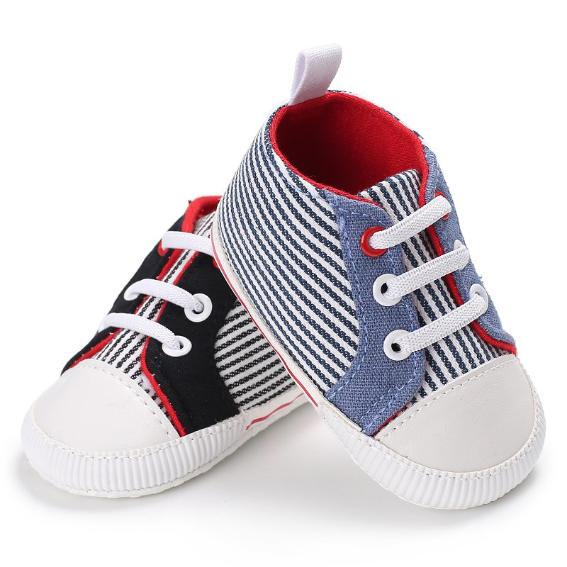 Autumn Breathable Canvas Girls Boys Shoes 2 Color Comfortable Baby Sneakers Kids Toddler Shoes