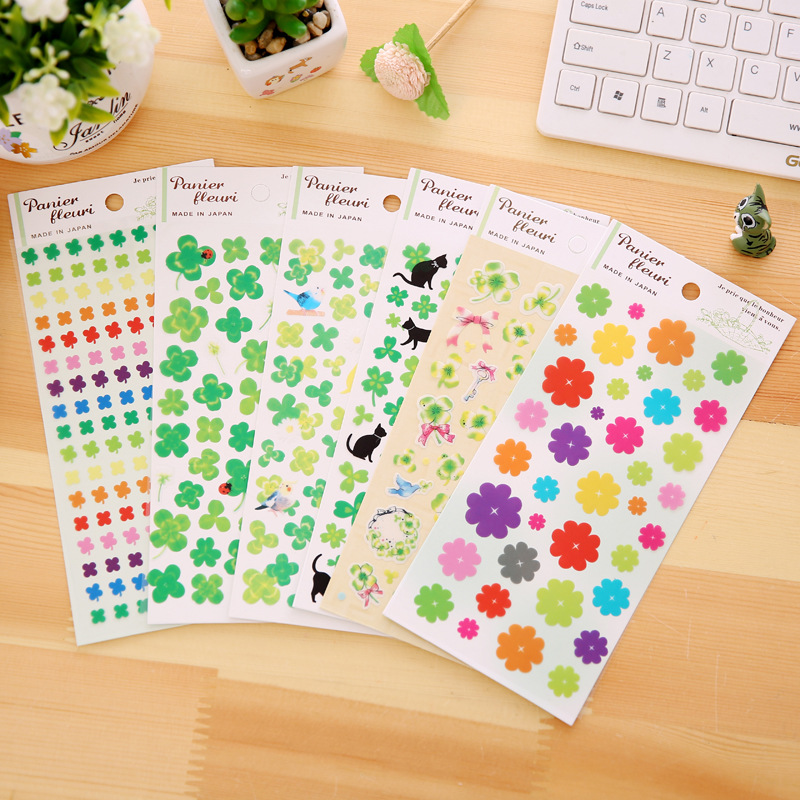 Beautiful Flower Stickers For Diary Notebook Photo Album DIY Decorate 8pcs/set School Kids Stationery Set beautiful darkness