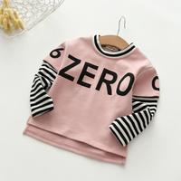 Baby Kids Letter Striped Clothes Unisex Boys Children Grils Spring Autumn Tops Underwear Wholesale Clothing For