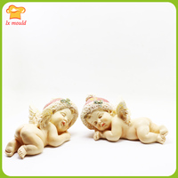 2019 new sleep angel silicone mould angel type chocolate polymer clay soap candle resin cake decoration angel doll mold