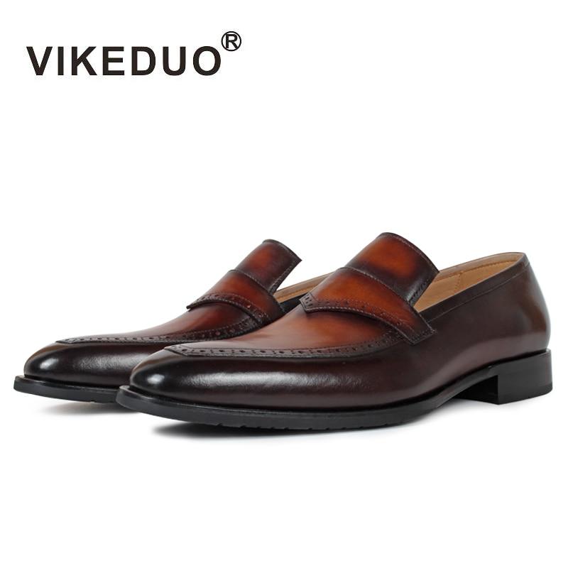슈퍼 스타 vikeduo 수제 남성 로퍼 신발 맞춤 100% 정품 가죽 패션 캐주얼 럭셔리 웨딩 파티 원래 디자인-에서남성용 캐주얼 신발부터 신발 의  그룹 1