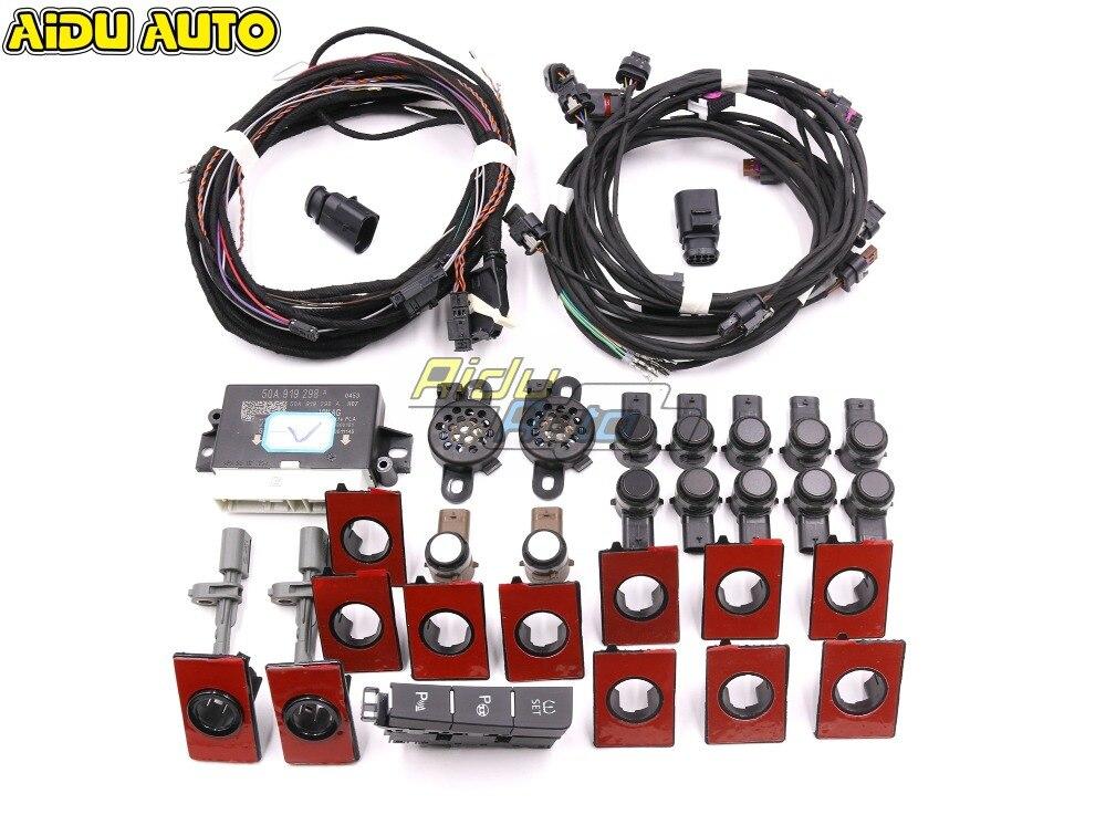 Dianteiro E Traseiro Parque de Estacionamento Inteligente Auxiliar Auxiliar PLA 3.0 K OPS 12 7 MK7 LHD Para VW Golf VII ATUALIZAÇÃO