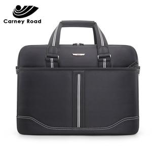 Image 2 - Business Oxford Men Briefcase 15.6 inch Laptop Handbags Mens Office Bags Multifunction Messenger BagComputer Work Bag