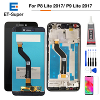 P8 lite 2017 LCD Display Touch Screen Digitizer For Huawei P9 Lite 2017 LCD Touch Panel With Frame PRA LA1 LX1 LX2 LX3+Free Gift