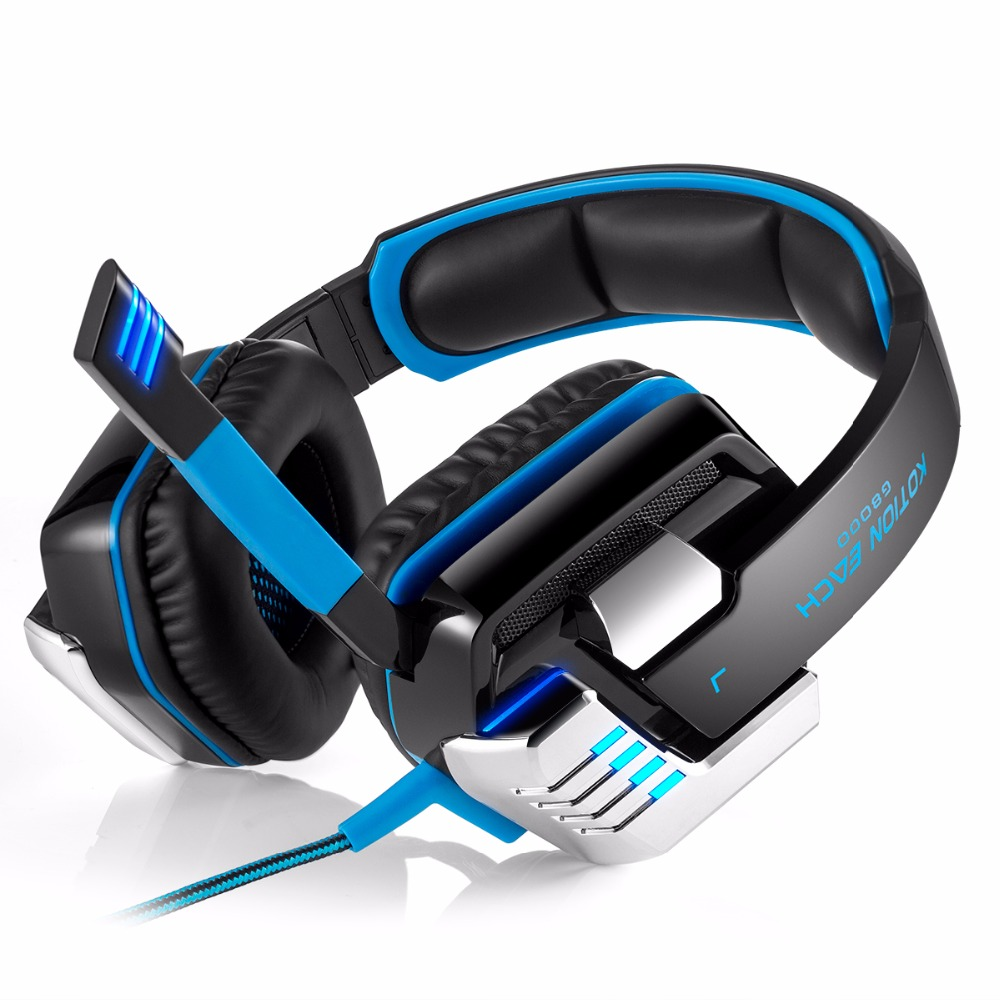 EACH G8000 Headphones Stereo glow Gaming Headphone Headset with Mic auriculares Noise Isolation glowing led Light for PC gamer