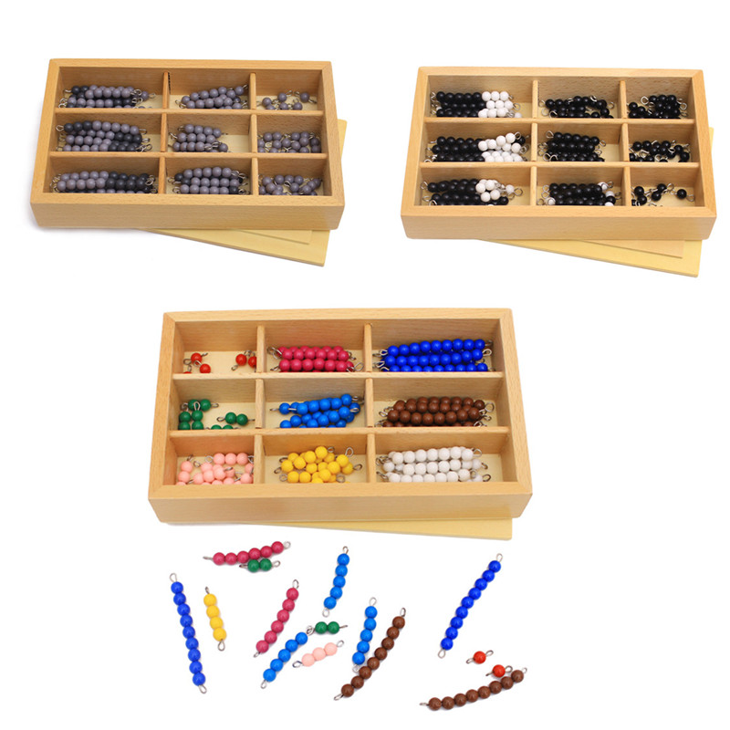 Free Shipping!3 in 1 Montessori Toy Checker Board Beads Math Toys Child Educational Training Learning Toys Wooden Toys gift