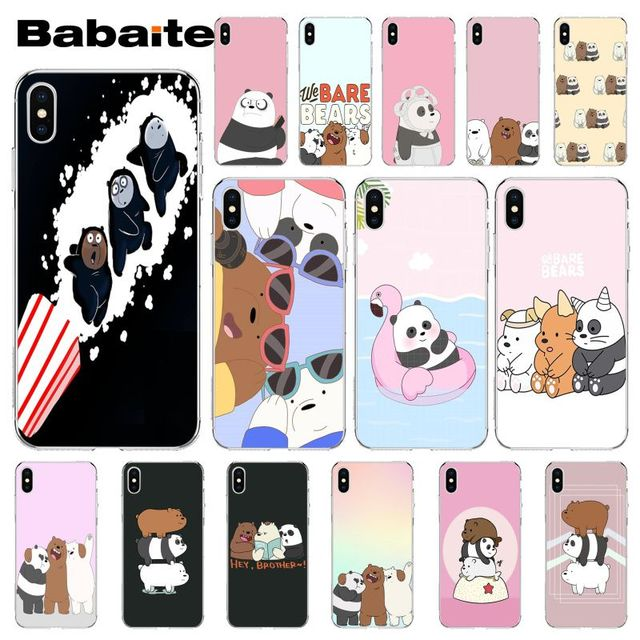 new arrival 03194 6cc0e Babaite we bare bears miniso Luxury Unique Design Phone Cover for Apple  iPhone 8 7 6 6S Plus X XS MAX 5 5S SE XR Cover