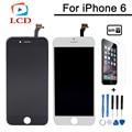 Preto e Branco AAA Qualidade No Dead Pixel Para iPhone 6 LCD 4.7 polegada Display Touch Montagem Digitador Da Tela de Substituição livre